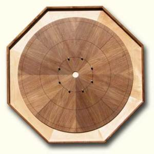 """The Executive"" Walnut Sunburst Octagonal"
